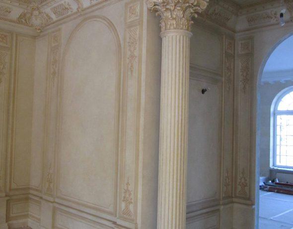 Декоративная штукатурка под мрамор и роспись потолков