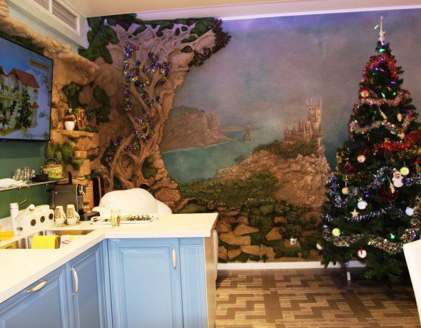 Декоративная штукатурка и художественное декорирование в квартире на Малой Юшуньской